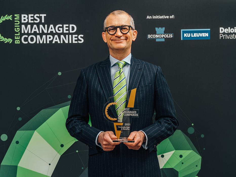 Vanbreda Risk & Benefits ontvangt 'Gold label' Best Managed Company